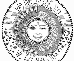 astrology, draw, and sun image
