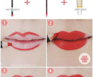 red and lips image