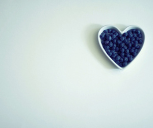 blueberry, heart, and food image