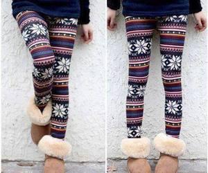 leggings, winter, and uggs image