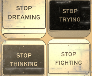 dreaming, stop, and thinking image