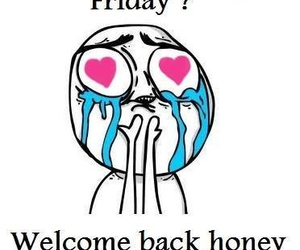 friday, honey, and welcome image