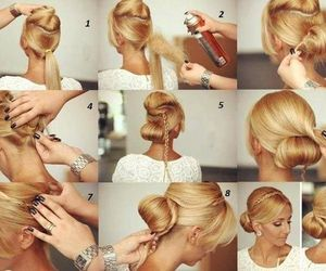 elegant, hairstyle, and how to image
