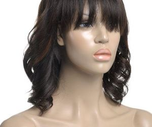 hair, wavy hair, and lace wigs image