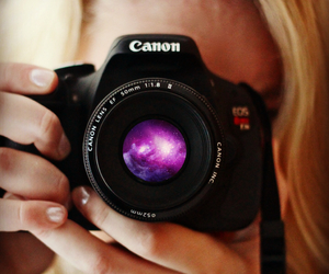 blonde, camera, and canon image
