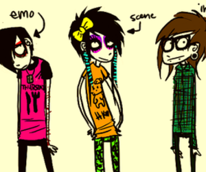 emo, indie, and scene image