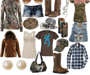 camo, country, and outfit image