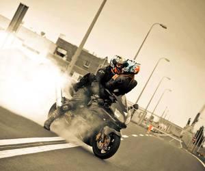 love and motorbike image