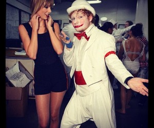 Taylor Swift, ed sheeran, and clown image