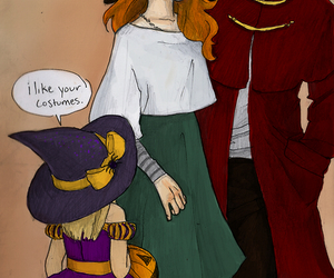 drawing, ginny weasley, and Halloween image