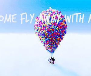 fly, balloons, and up image