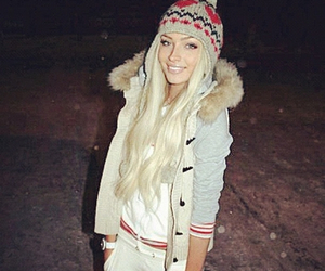 blonde, winter, and alena shishkova image