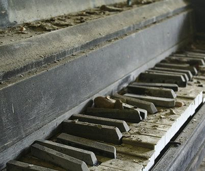 piano, old, and broken image