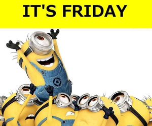 friday, minions, and yellow image