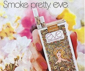 cigarette, eve, and smoke image