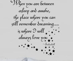 Dream, quote, and tinkerbell image
