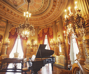 gold, Grand Piano, and luxury image