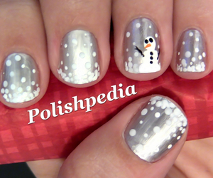 snowman, nails, and silver image
