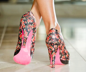 shoes, heels, and flowers image