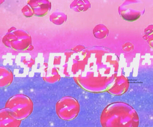 sarcasm and pink image