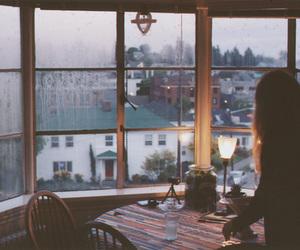 girl, window, and vintage image