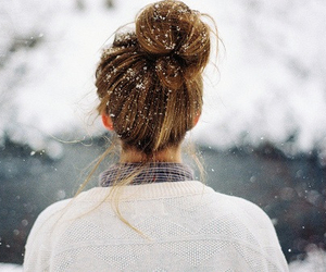 snow, hair, and girl image