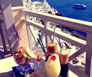 summer, drink, and Greece image
