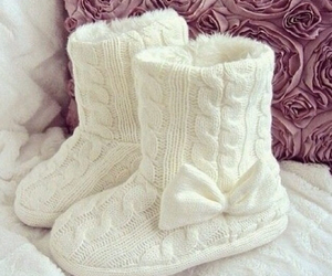 white, boots, and winter image
