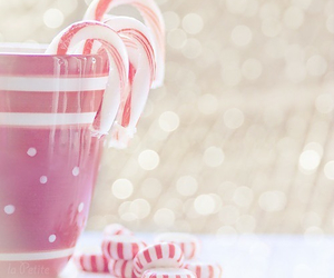 christmas, candy, and pink image