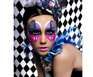clown, Halloween, and make-up image