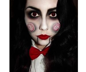 Halloween, make-up, and woman image