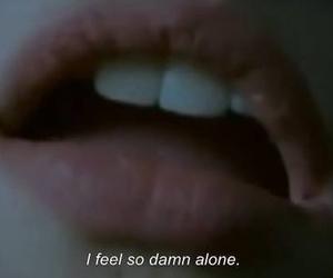alone, grunge, and lips image