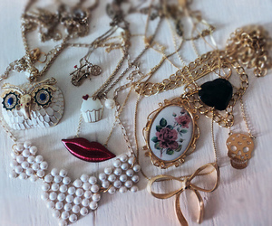 necklace, owl, and accessories image