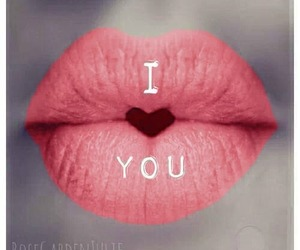 love, lips, and heart image