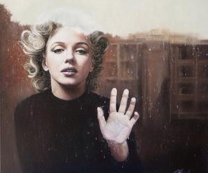 Marilyn Monroe, art, and woman image