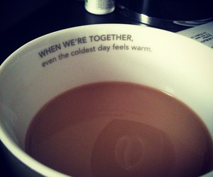love, quote, and coffee image