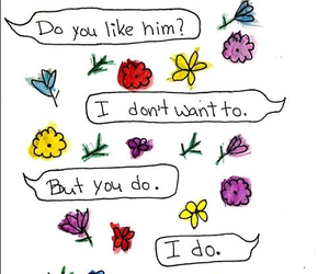 love, flowers, and quote image