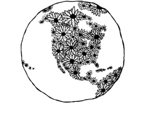 flowers, world, and earth image