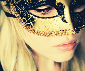 mask, girl, and pretty image