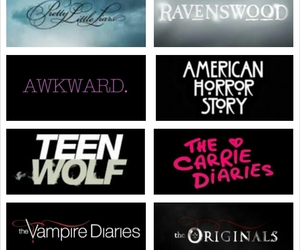teen wolf, american horror story, and pretty little liars image