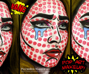 cosmetics, emotional, and face paint image