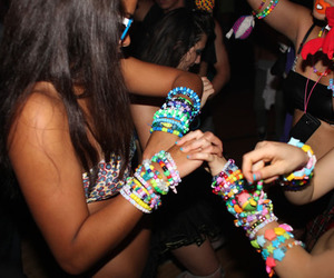 girl, party, and bracelet image