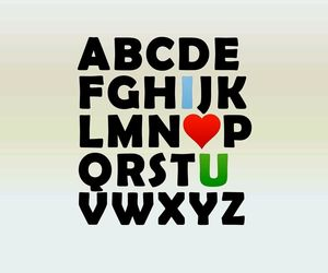 love, alphabet, and I Love You image