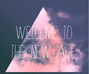 imagine dragons, radioactive, and new age image
