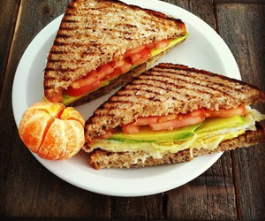 healthy, yum, and sandwich+ image