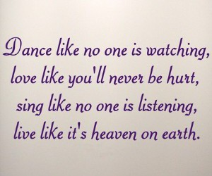 be, dance, and live image