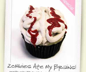 blood, brains, and cupcake image