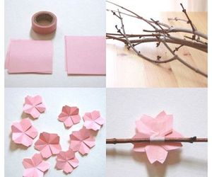 cherry blossoms and origami image