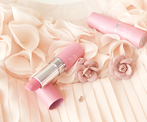 pink, lipstick, and flowers image