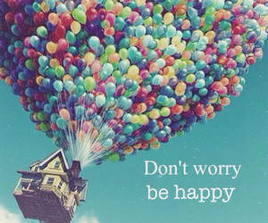 happy, worry, and ballons image